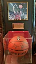MICHAEL JORDAN Signed Basketball and PORTRAIT by Sports Artist Mike Grillo