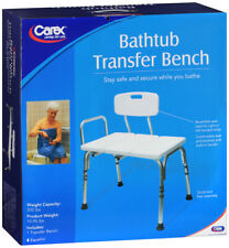 Carex Tub Transfer Bench Shower Chair Transfer Bench Height Adjustable #B153-00