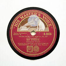 """DUKE ELLINGTON ORCHESTRA """"Riff Staccato / Time's A-Wastin"""" HMV B-9456 [78 RPM]"""