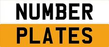 STICK ON NUMBER PLATE - REFLECTIVE - FREE POSTAGE