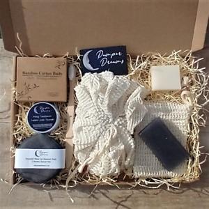 ECO FRIENDLY BATHROOM ESSENTIALS GIFT BOX ZERO WASTE PLASTIC FREE BIODEGRADABLE