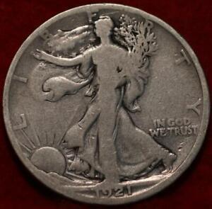 1921-D Denver Mint Silver Walking Liberty Half