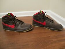 Used Worn Size 15 Nike Big NIKE High Shoes Brown Red Gum Multi