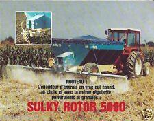 Farm Equipment Brochure - Sulky - Rotor 5000 - Epandeur d'engrais c1990s (F1522)