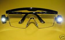 Dental Medical LED Light Safety Glasses Black Frame Kit /20 Pcs TOSCANA