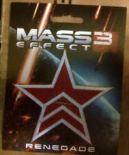 MASS EFFECT 3  EMBROIDERED PATCH : RENEGADE 2013