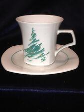 NIKKO JAPAN EVERGREEN CUP & SAUCER CHRISTMAS TREE  307 PINE GREEN QUADRILLE MUG