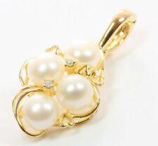 ♦ 14kt 585 Brillant Ketten Perlen Gold Anhänger Perlenanhänger Kettenanhänger  ♦