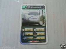 22 SUPER TRAIN H1 TGV WORLDRECORD TREIN KWARTET KAART, QUARTETT CARD