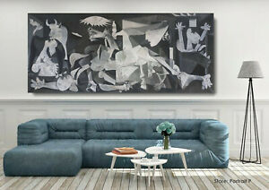 Pablo Picasso Guernica Oil Painting Hand-Painted Museum Quality Canvas 48x110 in