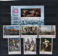 Yémen Royaume 1968 Tableaux de Venice Ensemble de 6 Timbres & S/S MNH