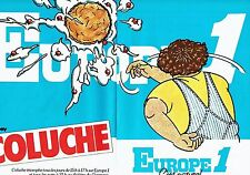 PUBLICITE ADVERTISING 0217  1978  radio Europe1 (2p) Coluche au Théatre du Gymna