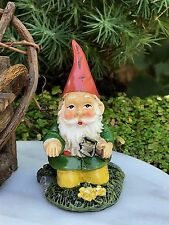 Miniature Dollhouse Fairy Garden Accessories ~ Mini Gardening Gnome with Tool