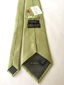 K-Boxing SAIFC Kickboxing Necktie New With Tag Green Gold Geometric Pattern