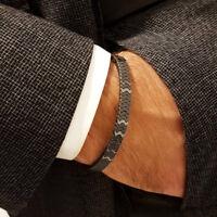 Luxury Wristband Braided Macrame Charm Bracelet Men Hematite Beads Adjustable