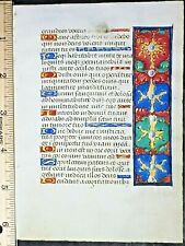 French medieval BoH lf.Vellum,unusual Border.Litany of the blessed Virgin,c.1490