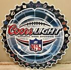 2005 Coors Light Beer Official Beer Sponsor of the NFL 32 Team Tin Sign Circular