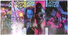 JOHN WICK (5) comic SET #1 2 3 4 5 Dynamite first print series Valletta A cover