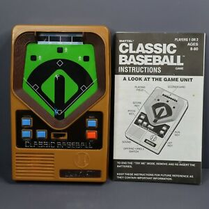 Vintage 2001 Mattel Hand-Held Electronic Classic Baseball Game With Instructions