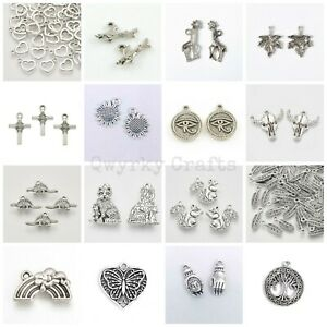 Tibetan Silver charms pendants jewellery card making crafts antique colour LOT 4