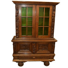 Antique American Oak Cabinet/ Bookcase #7800