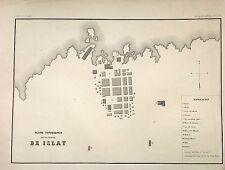 PERÚ,Plano topográfico de la ciudad de Islay.Paz Soldán.Geografía del Perú 1865.
