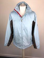 Womens Mammut Blue Grey Windstopper Soft Shell Jacket Coat Fleece 10/12 Winter