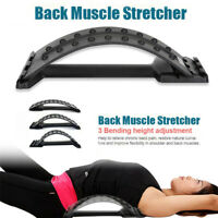 Back Magic Stretcher Spine Posture Corrector Neck Waist Pain Relief Exercise.