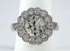Old European-Cut 2.35ct DIAMOND on PLATINUM RING - R9202