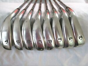 Mens LH Nike Slingshot SS 4D Irons 4-PW AW Speed step steel stiff 8 clubs left