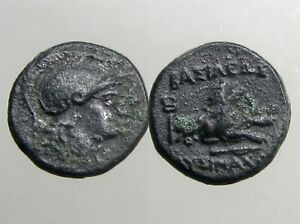 LYSIMACHOS THRACE BRONZE AE14__________Ancient Greece__________FOREPART OF LION