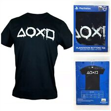 Sony PlayStation Buttons Tee T-shirt XL Short Sleeve Black Tsh607