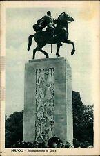 Napoli Neapel Italien Italia s/w Postkarte ~1920/30 Monumento a Diaz Denkmal