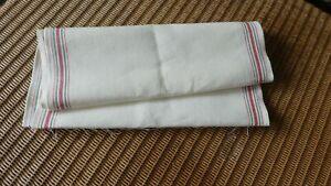 Leinenband V + H, natur hell - 35 cm breit /120 cm lang - gestreift