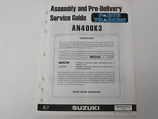 OEM Suzuki Assembly PDI Pre-Delivery Inspection Setup Service Guide AN Burgman