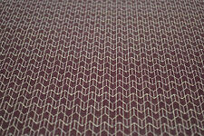 Japanese Wool Fabric Kasuri Style Print Maroon and White 1027