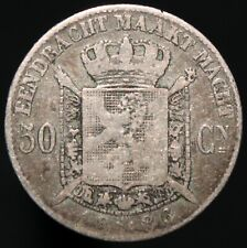 More details for 1886 | belgium leopold ii 50 centimes | silver | coins | km coins