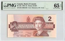 Canada 1986 BC-55b PMG Gem UNC 65 EPQ 2 Dollars (Thiessen-Crow)