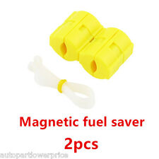 2× Magnetic Fuel Saver petrol Gas Saver Reduce Emission For All Type Car Trucks