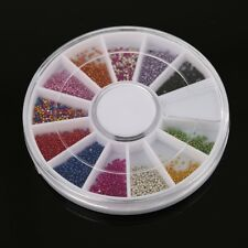 DIY Nail Art Mini Bottles Caviar Glitter Glass Manicure Beads Nail Decor BR1