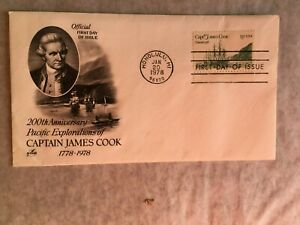 UNITED STATES USA 1978 FDC ART CRAFT CAPTAIN JAMES COOK PACIFIC EXPLORATION 02