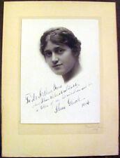 1914 Operatic Soprano Alma Gluck Signed Photograph