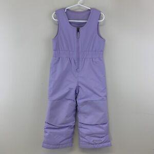 Columbia Toddler Girl Purple Ski Snow Bib Pants Size 3T Adjustable Grow System
