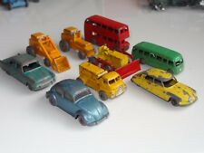 (S) lesney matchbox LOT OF 9 VW BEETLE CITROEN BUS TRACTOR