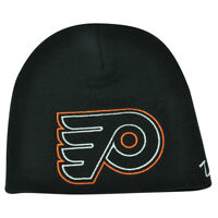 NHL Zephyr Philadelphia Flyers X Ray Cuffless Beanie Knit Toque Skully Hat Black