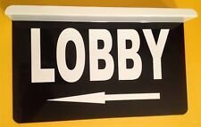 Lobby Directional Arrow Ceiling Mount Business Sign