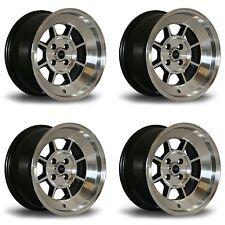 "4 x Rota BM8 Polished Silver Alloy Wheels - 15x8""|ET0|4x100 PCD|67.1mm CB"