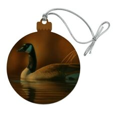 Canada Canadian Goose Wood Christmas Tree Holiday Ornament