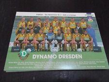69920 Mannschaftsbild Dynamo Dresden 90er Jahre alte Autogrammkarte