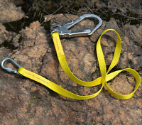 22KN Outdoor Rock Climbing Safety Harness Belt Lanyard + Carabiner Hook Gear